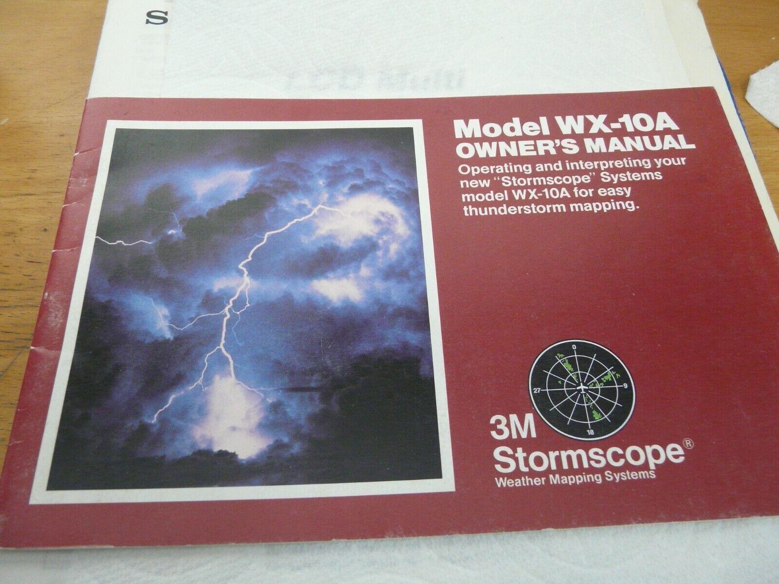 3M avionics WX-10A stormscope owners manual NOS