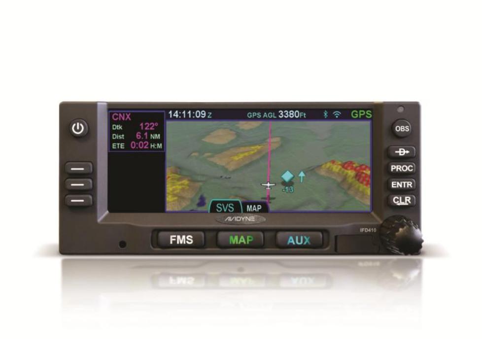 AVIDYNE IFD410 GPS (ONLY)/FLTA/SVS PN: 850-00179-010 NE BLACK BEZEL