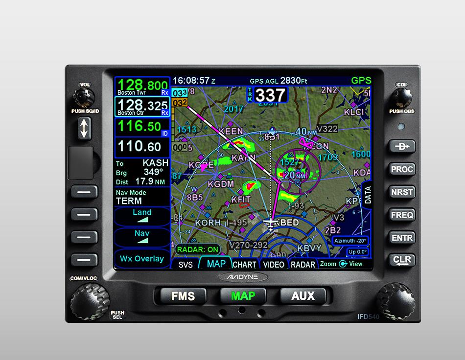 AVIDYNE INTEGRATED FLIGHT DISPLAY IFD540 PN: 700-00182-000 NE