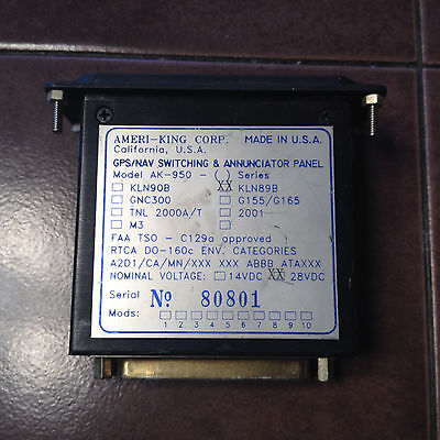 Ameri-King AK-950 for 28volt KLN89B GPS