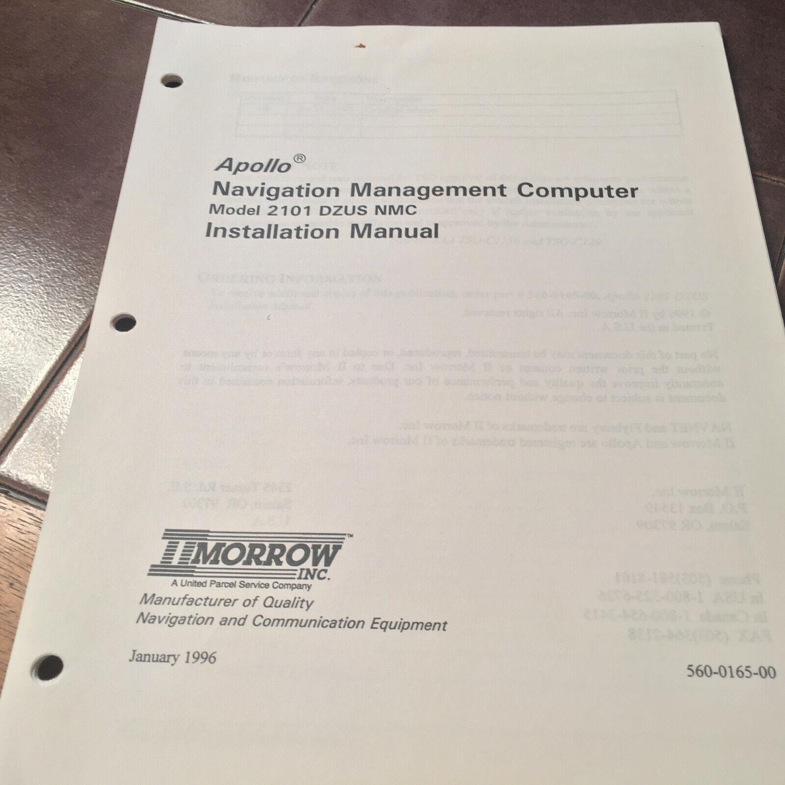 Apollo DZUS Nav Management NMC Computer 2101 Install Manual