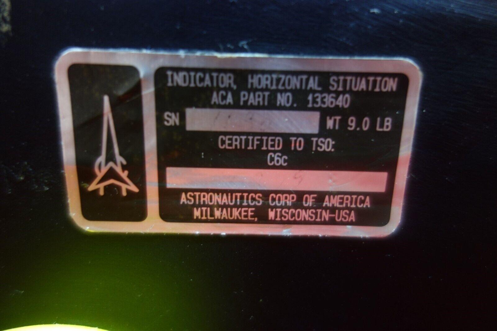 Astronautics Corp of America Horizontal Situation Indicator PN 133640