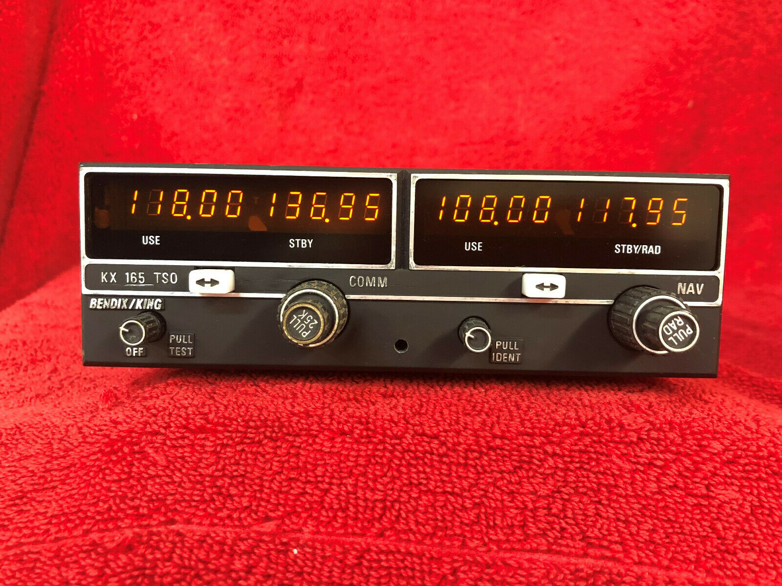 BENDIX KING KX 165 NAV/COM WITH G/S (28V) 069-1025-25 WITH FRESH FAA 8130-3 FORM