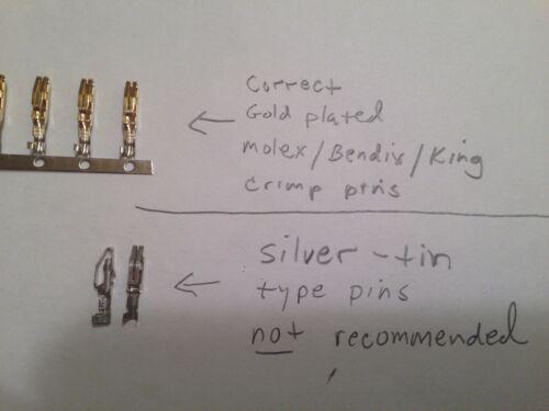 Bendix KING Molex Split Pins tray connector KMA24 KX155 Gold plated 26 pieces