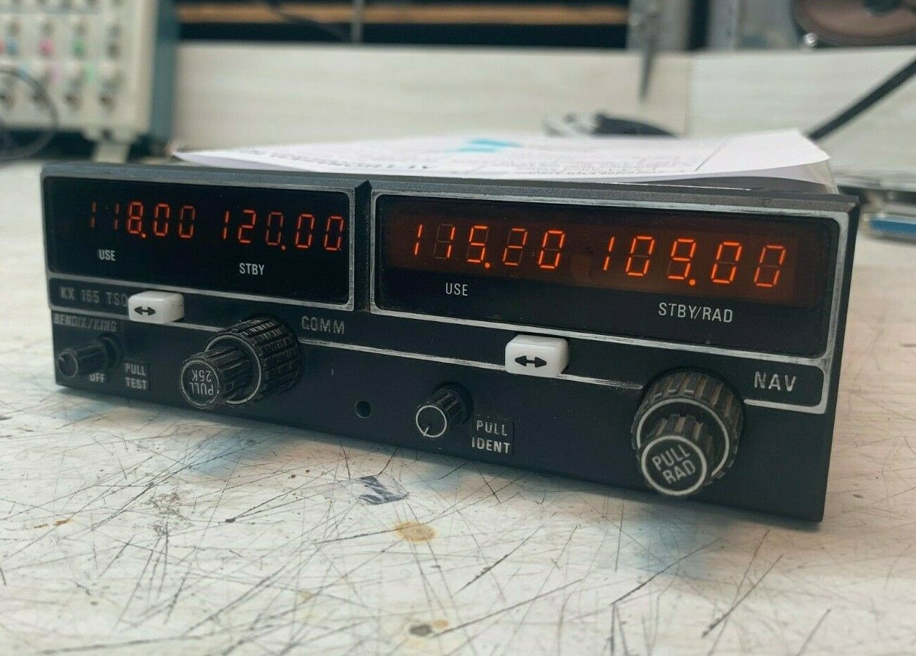 Bendix King KX-165 NAV/COM 28 Volt P/N 069-1025-05. Comes w/ 8130. Exchange $995