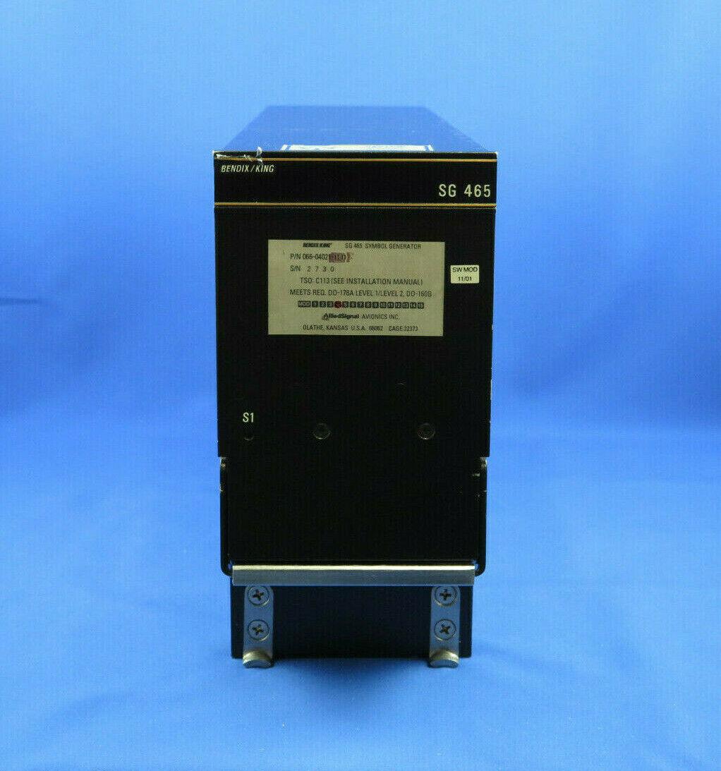 Bendix King SG465 Symbol Generator PN 066-04021-1111 SV w/ FAA 8130 Dual Release