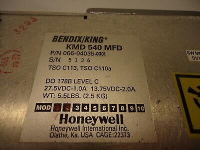 Bendix/King 066-04035-0301 KMD-540 MFD  - Used Avionics