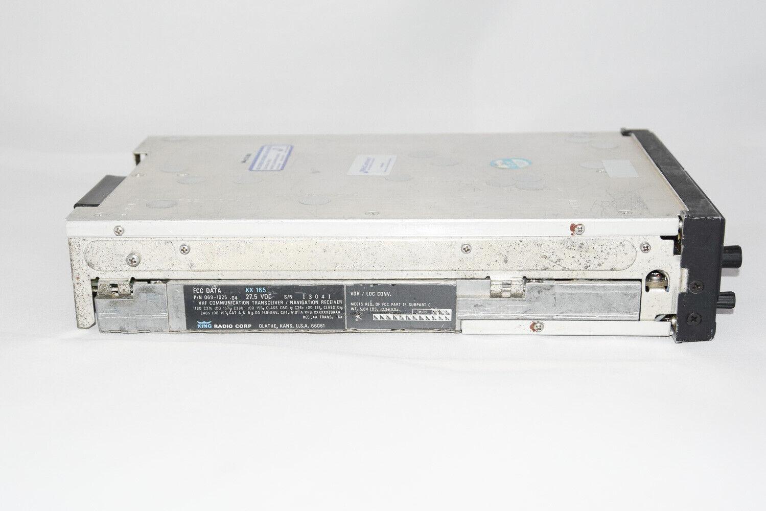Bendix/King KX-165 28V Nav/Com with 8130 PN: 069-1025-04 SN: 13041