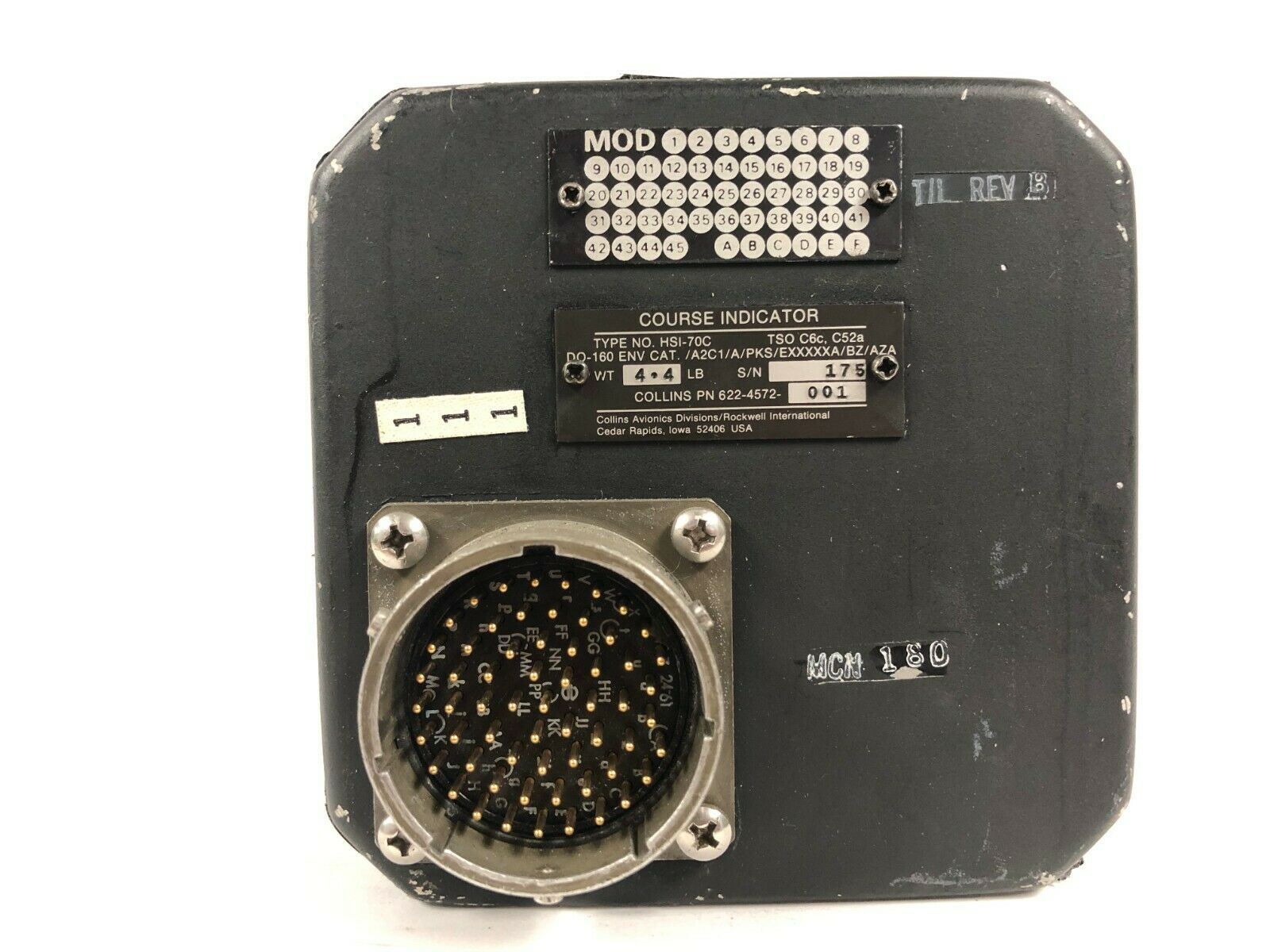 COLLINS HSI-70C COURSE INDICATOR PN: 622-4572-001