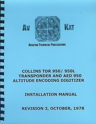 COLLINS TDR 950 / 950L TRANSPONDER INSTALLATION MANUAL