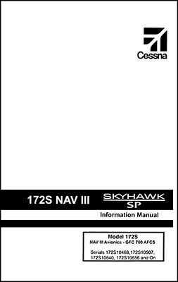 Cessna Skyhawk Airplane Information Owner's Manual (POH) - 172S G1000 & GFC-700