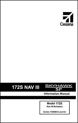 Cessna Skyhawk Airplane Information Owner's Manual (POH) - 172S G1000 & KAP-140