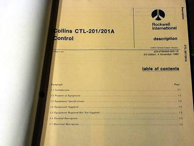 Collins CTL-201 & CTL-201A Controls Service Manual