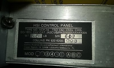 Collins HSI CONTROL PANEL 622-6700-003 Aviation Cessna
