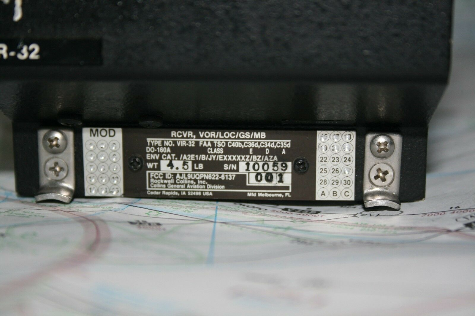 Collins VIR 32 VOR LOC GS MB Receiver P N 622 6137 001