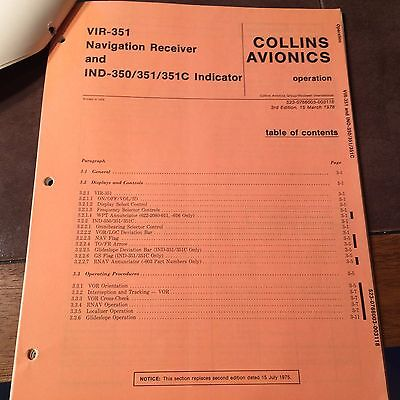 Collins VIR 351, IND-350, 351 and 351C Install Manual
