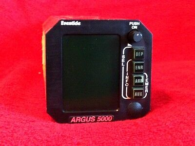 EVENTIDE ARGUS 5000 MOVING MAP DISPLAY WITH TRAY AND CONNECTOR P/N 5000-10-15