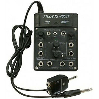 Easy to Use PilotUSA PA-400ST 4 Place Portable Intercom For Your Aircraft