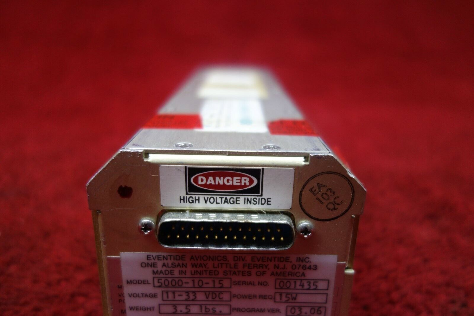 Eventide Avionics ARGUS 5000-10-15 Moving Map Display Indicator 11-33V