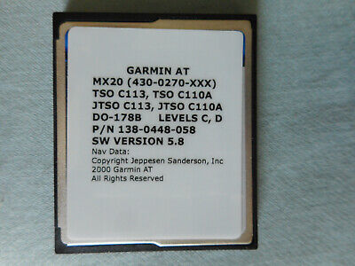 GARMIN MX20 DATA CARD WITH 5.8 SOFTWARE THE LAST SOFTWARE RELEASED (512MB)