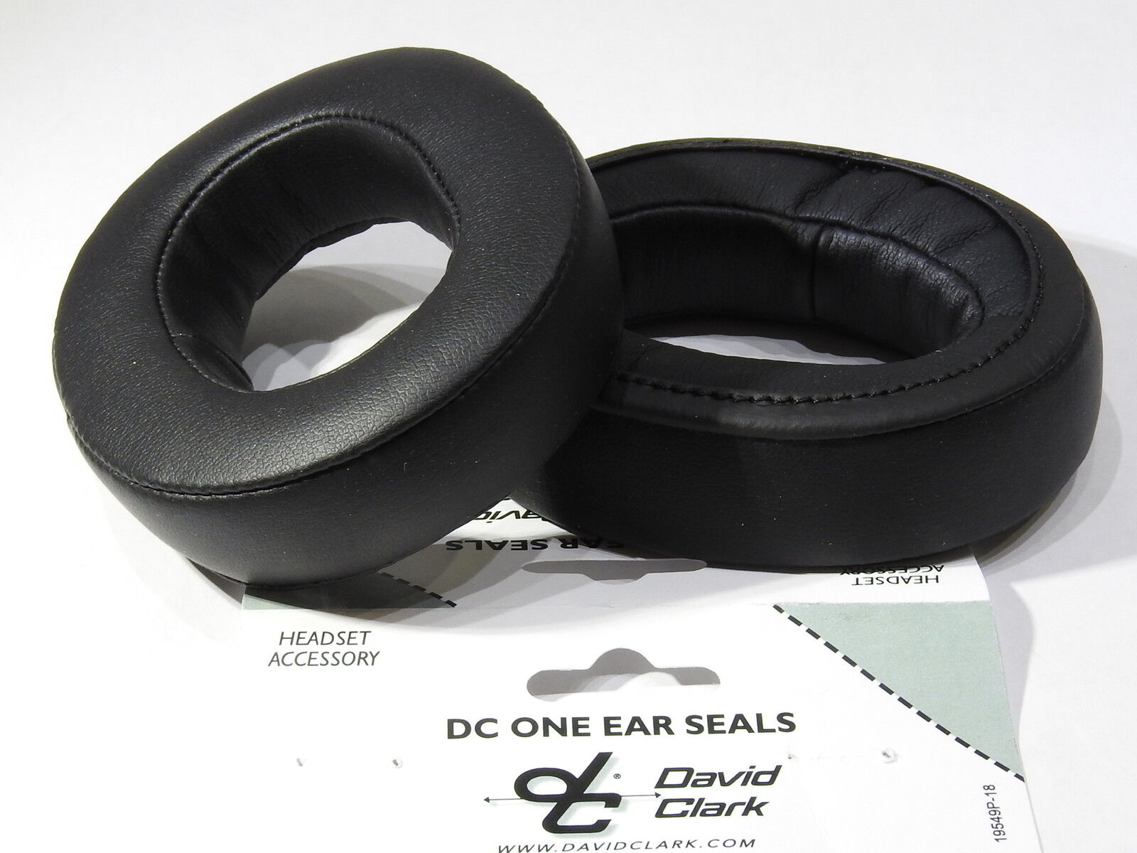GENUINE DAVID CLARK DC ONE EAR SEALS  p/n  15976G-07 1 Pair in Leatherette