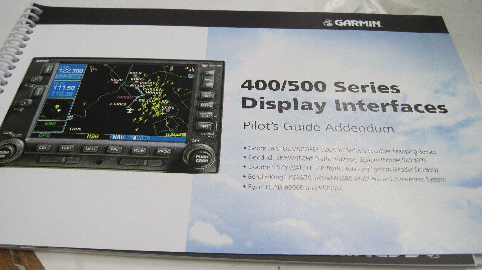 Garmin 400/500 Series Display Interfaces Pilots Guide Addendum