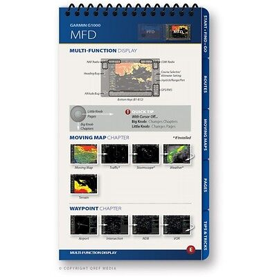Garmin G1000 WAAS Quick Reference Checklist Book by Qref