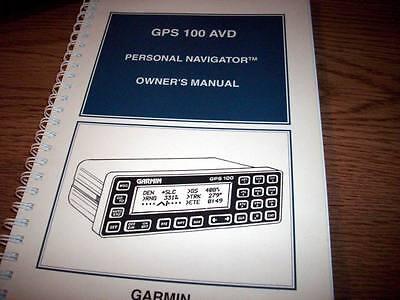 Garmin GPS 100 AVD Owner's Manual