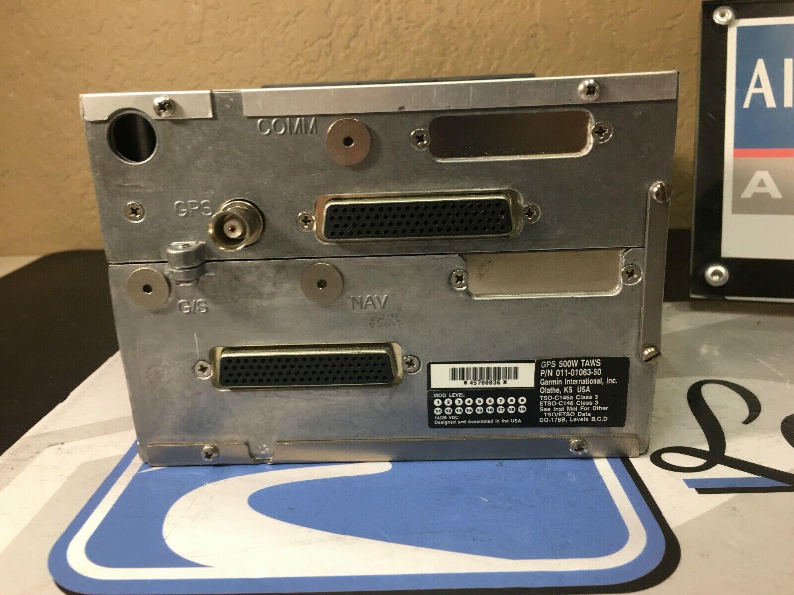 Garmin GPS Receiver GPS500W TAWS 011-01063-50 w/ January 2020 SV 8130