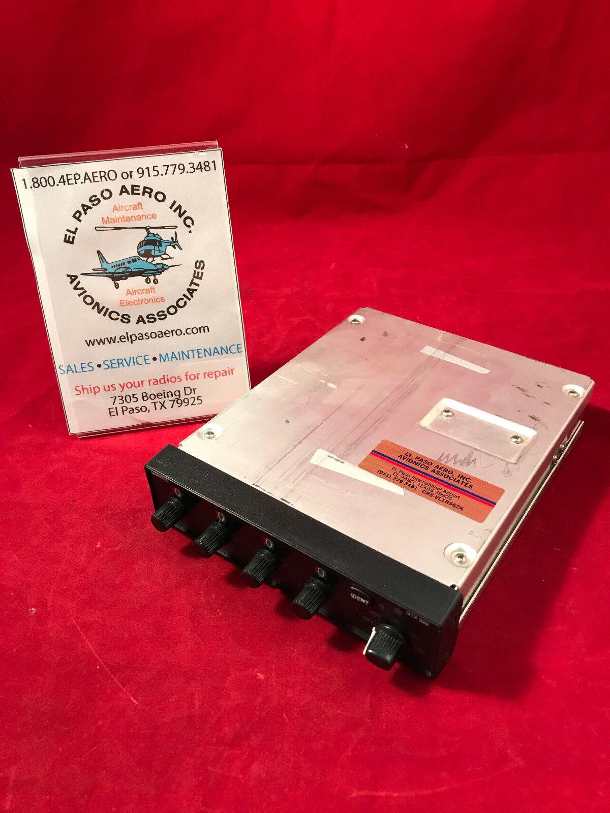 Garmin GTX-320 Transponder 011-00259-10. Fresh FAA 8130.