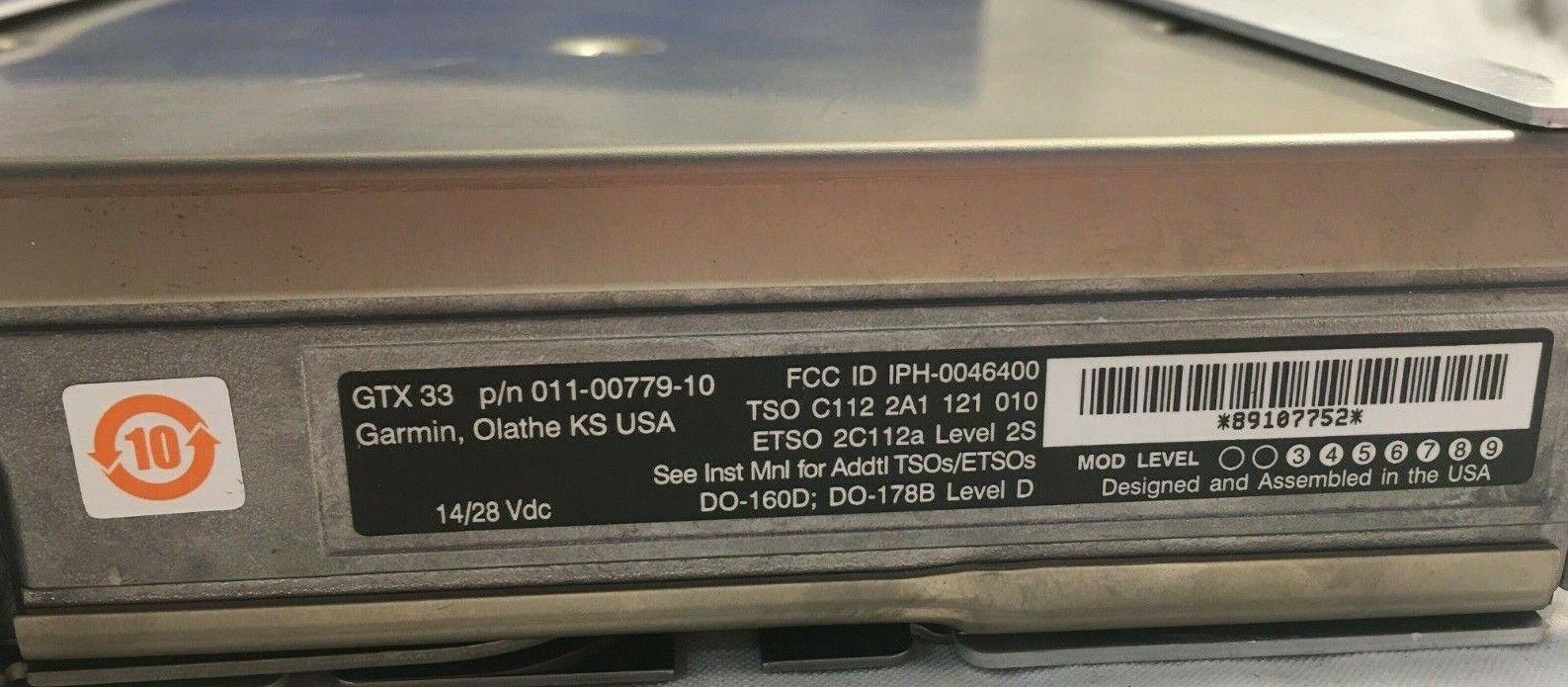Garmin GTX 33 Transponder Mode S