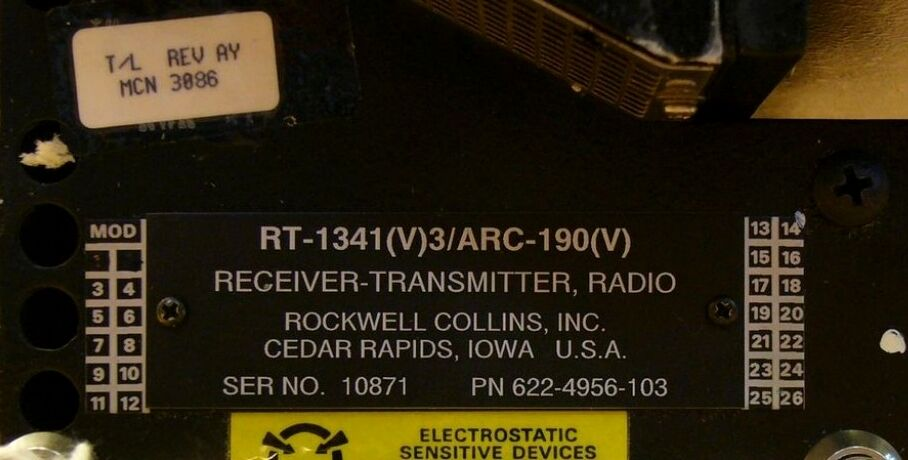 HF RECEIVER TRANSMITTER * 622-4956-103 RT-1341 / ARC-190 ROCKWELL COLLINS