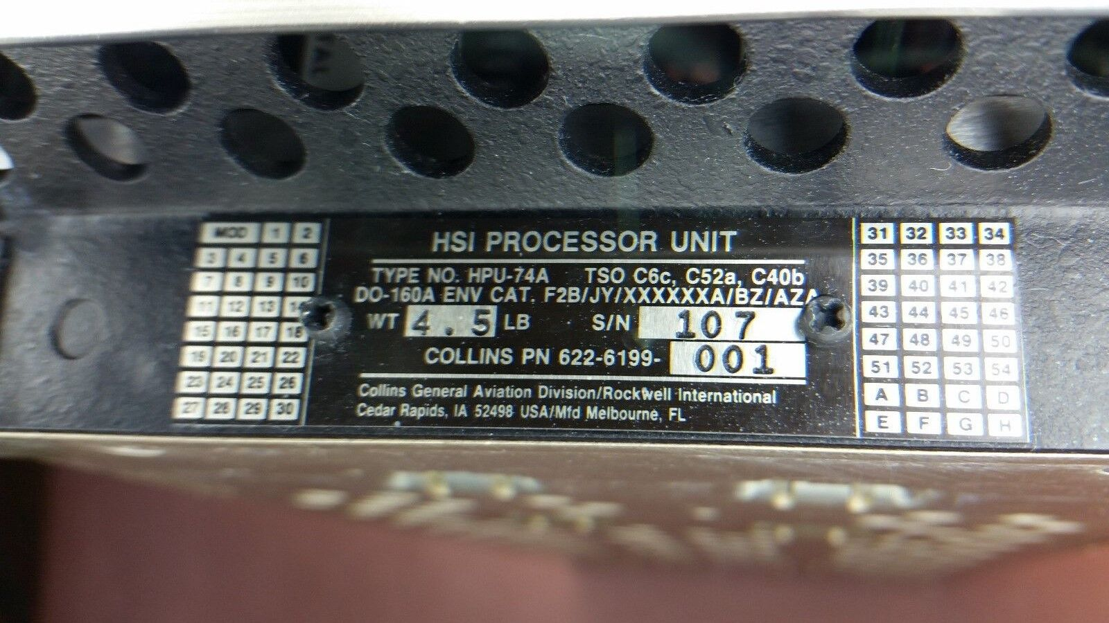 HPU-74A COLLINS HSI PROCESSOR UNIT P/N: 622-6199-001 (AR)