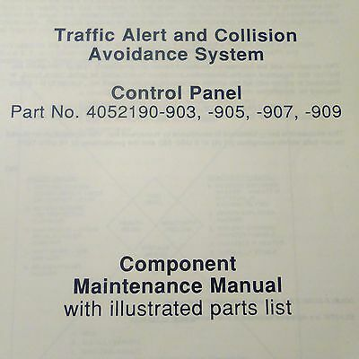 Honeywell TCAS Control 4052190-903, 4052190-905, 4052190-907, 4052190-909 Manual