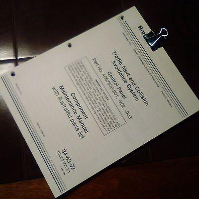 Honeywell TCAS Control 4067620-901, 4067620-902, 4067620-903 ServiceParts Manual