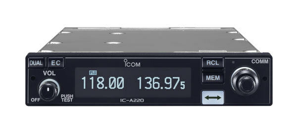 ICOM IC A220T TRANSCEIVER - PANEL MOUNT - TSO'D FREE SHIPPING