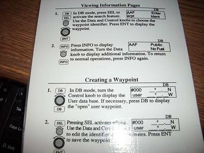 IIMorrow Apollo 820 Flybuddy GPS Laminated Quick Reference Guide