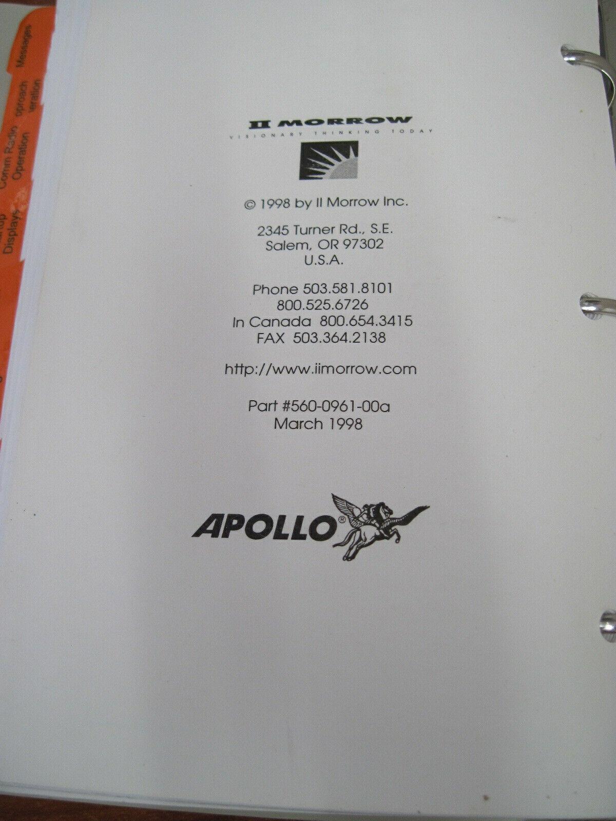 IImorrow  Apollo GX Users Guide 50,55,60