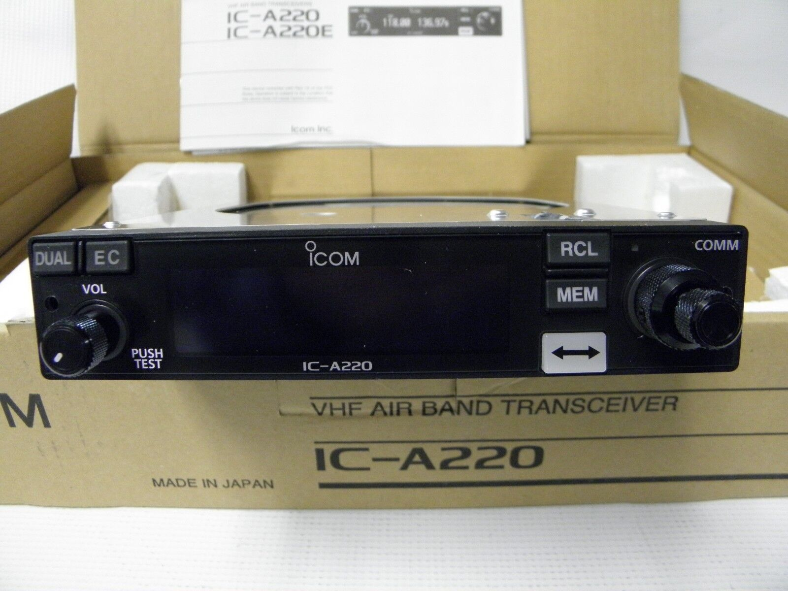 Icom IC-A220 (New) Panel Mount Com Transceiver **$100 FACTORY REBATE**