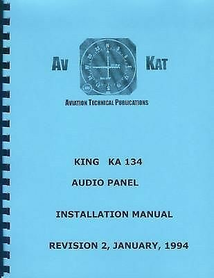 KING KA 134 AUDIO PANEL  INSTALLATION MANUAL