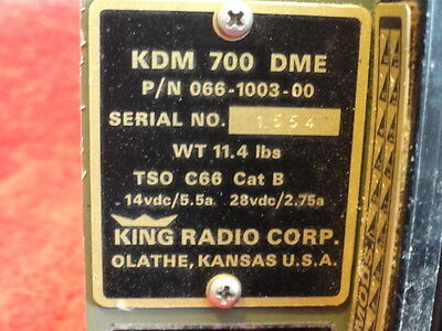 KING KDM 700 DME P/N 066-1003-00
