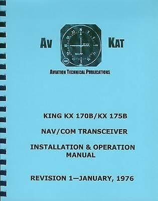 KING KX 170B / KX 175B   NAV/COM INSTALLATION MANUAL