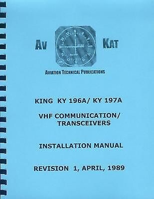 KING KY 196A/ 197A   INSTALLATION MANUAL