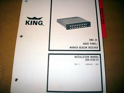 King KMA-24 Audio Install and Operation Manual