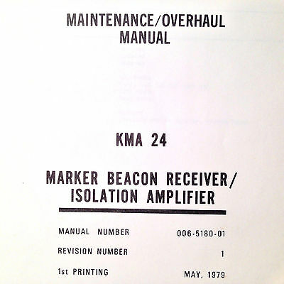 King  KMA 24 Audio Marker Service Manual