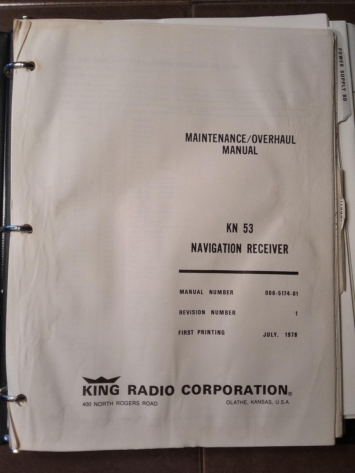 King KN-53 Nav Service Manual