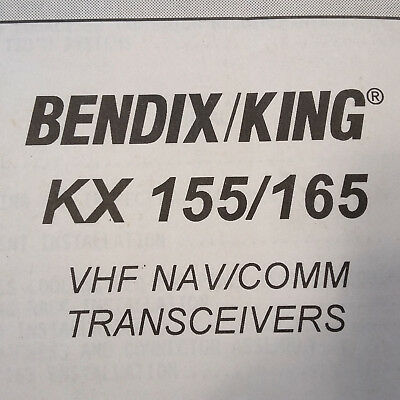 King KX-155, KX-165 Install and Operation Manual
