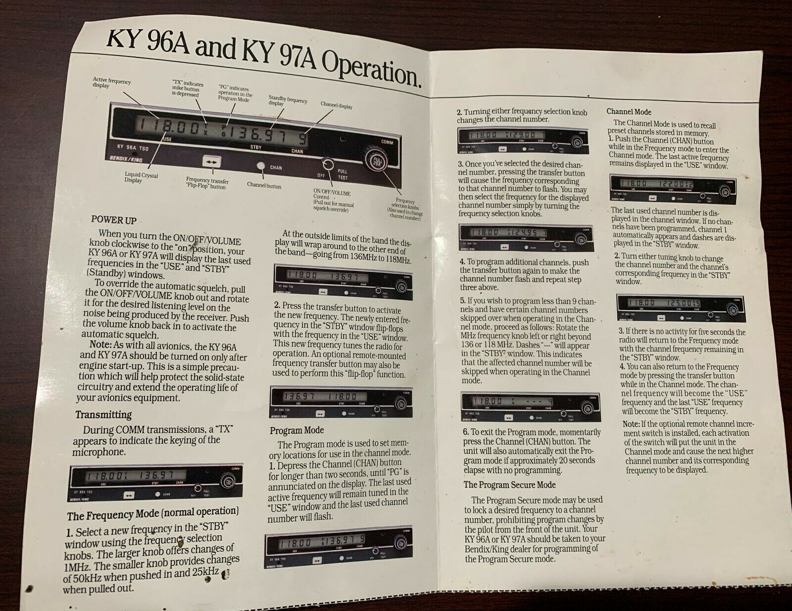 King KY 96A & KY 97 pilots guide