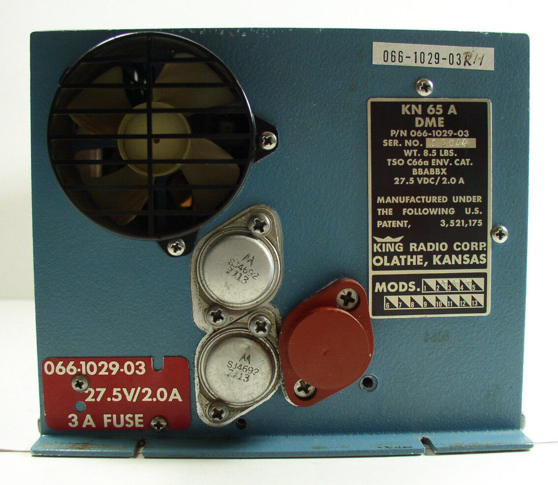 King Radio Corp 066-1029-03 KN65A DME With KA58 Hold Adapter