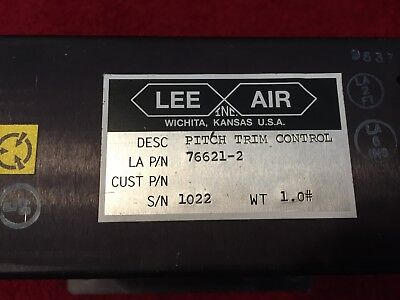 LEE AIR AUTOPILOT PITCH TRIM CONTROL P/N 76621-2